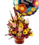 Get Well Sunshine Bouquet & Balloon