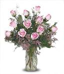 One-Dozen Pink Roses