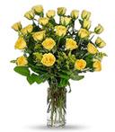 2-Dozen Yellow Birthday Roses