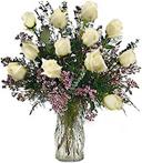 One-Dozen White Sympathy Roses