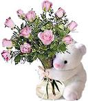 Bear & Roses Thank You Duo
