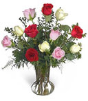 One-Dozen Assorted Thank You Roses