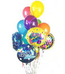 Assorted Birthday Balloons Bouquet
