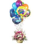 Happy Birthday Pink Spring Basket