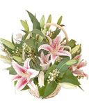 Lush Lily Basket
