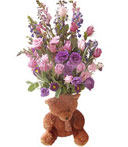 Bear and Blooms
