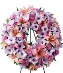 Restful Memories Sympathy Wreath