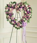 Lavender Hearts Standing Wreath