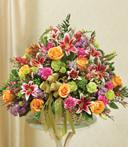 Colors of My Heart Sympathy Basket